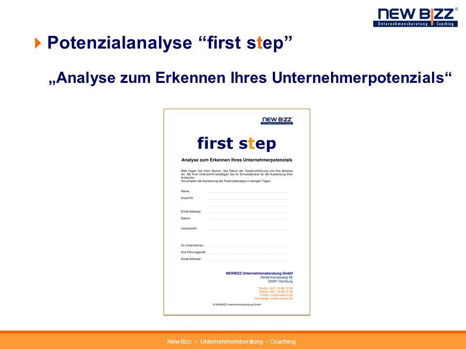Potenzialanalyse first step