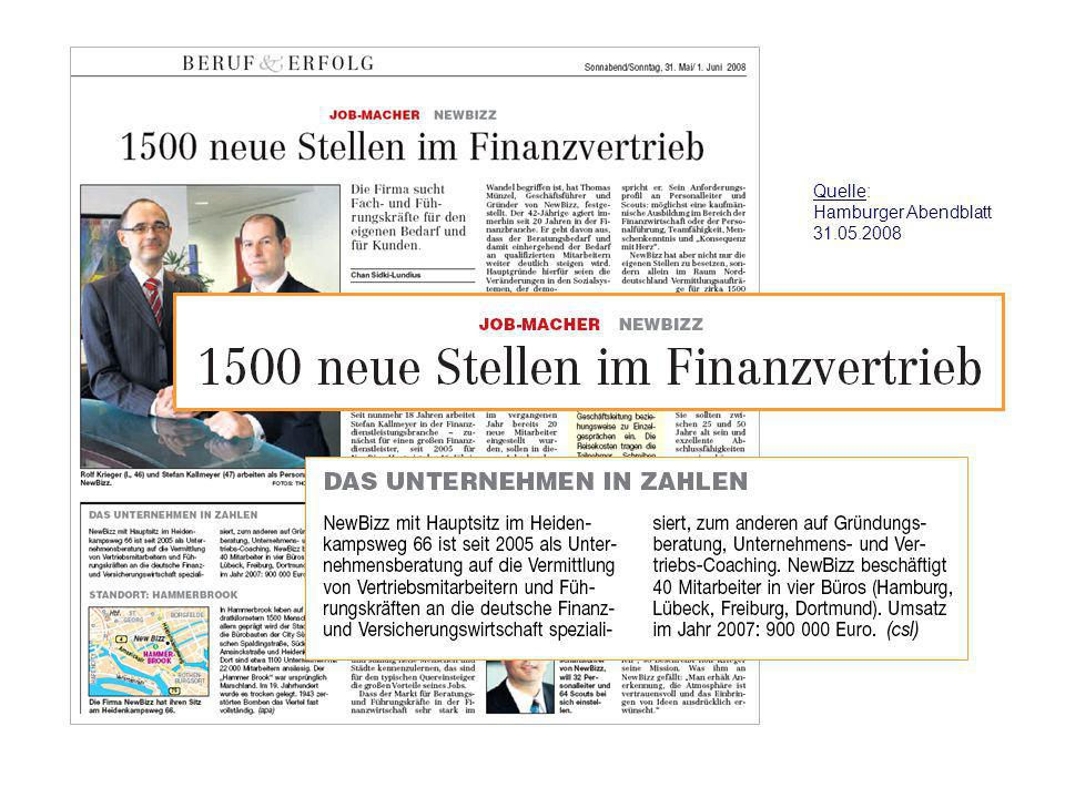 Quelle: Hamburger Abendblatt 31.05.2008