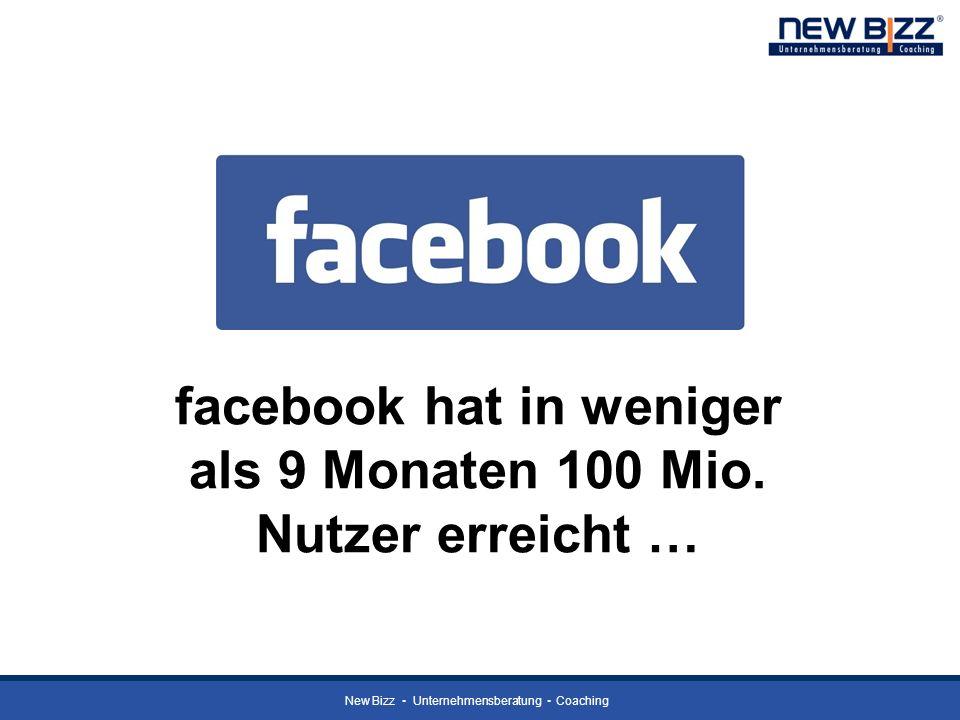 facebook hat in weniger als 9 Monaten 100 Mio. Nutzer erreicht …
