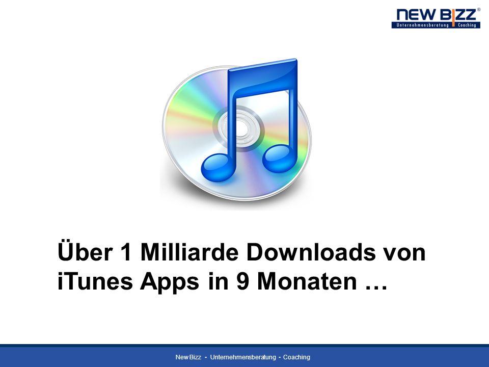 Über 1 Milliarde Downloads von iTunes Apps in 9 Monaten …