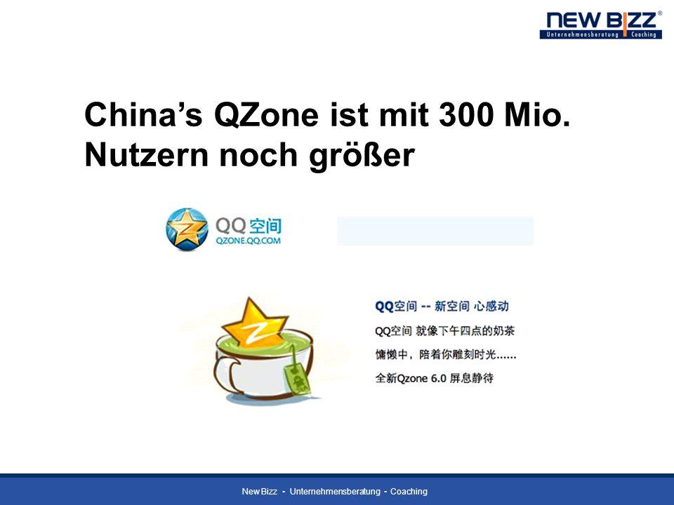 China's QZone ist mit 300 Mio. Nutzern noch größer