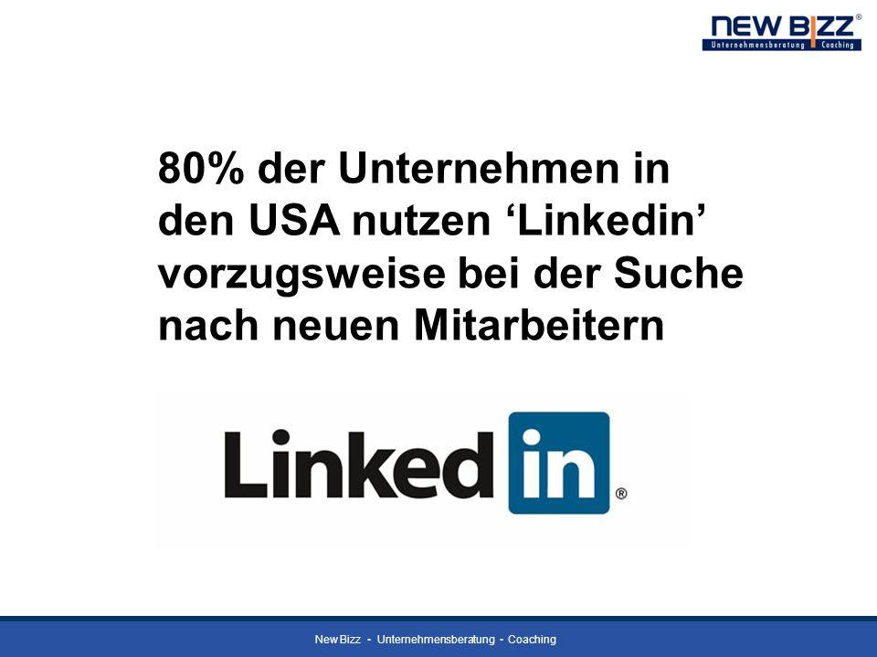 80% der Unternehmen in den USA nutzen 'Linkedin' vorzugsweise bei der Suche nach neuen Mitarbeitern