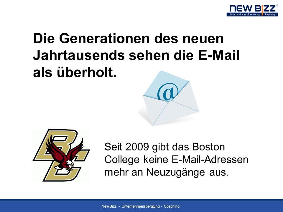 Die Generationen des neuen Jahrtausends sehen die E-Mail als überholt.