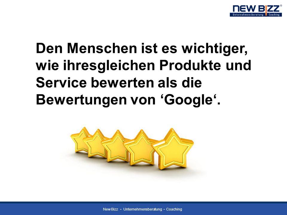 Den Menschen ist es wichtiger, wie ihresgleichen Produkte und Service bewerten als die Bewertungen von 'Google'.