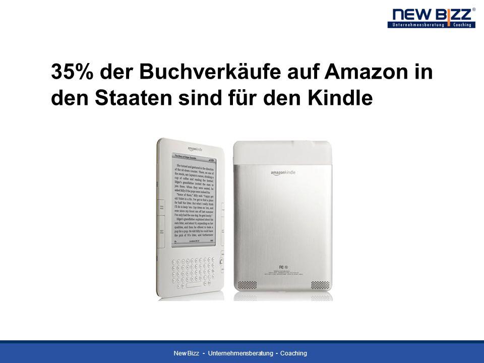 35% der Buchverkäufe auf Amazon in den Staaten sind für den Kindle