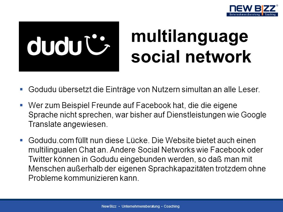 multilanguage social network