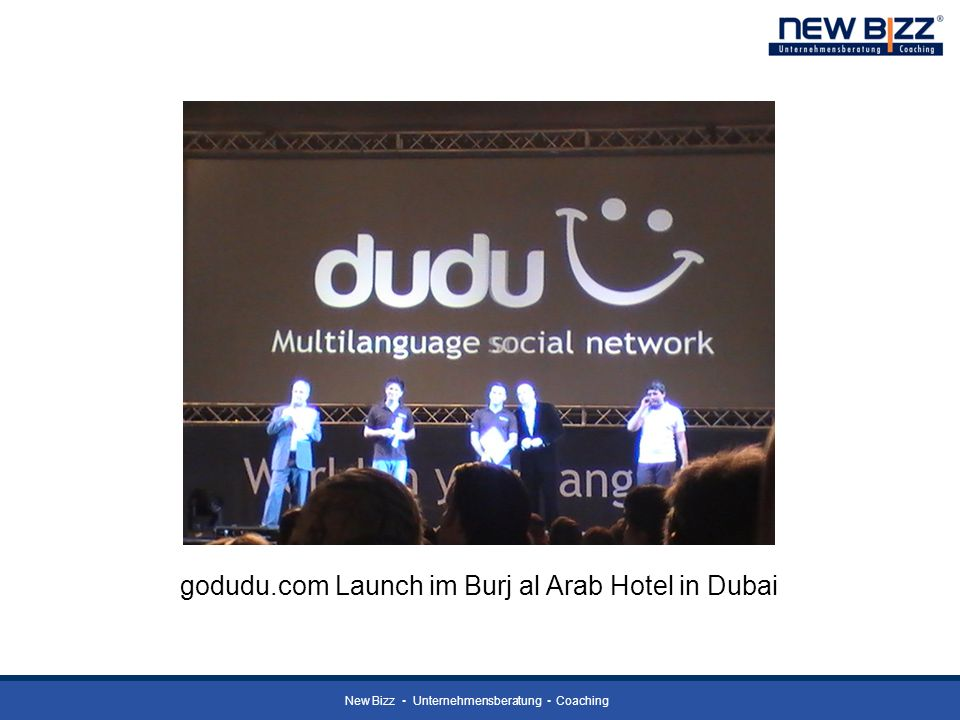 godudu.com Launch im Burj al Arab Hotel in Dubai