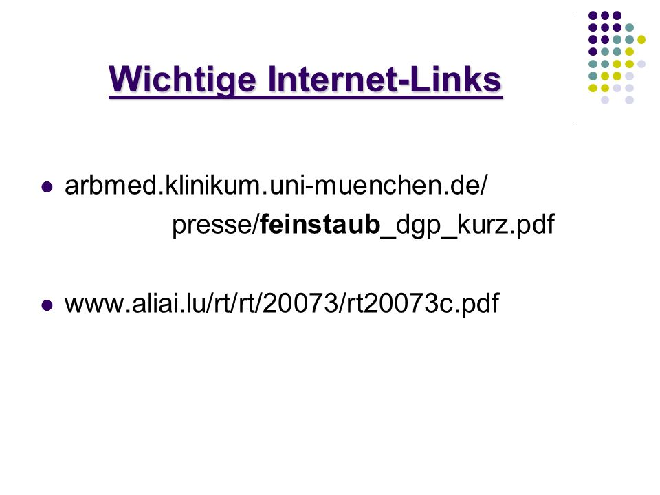 Wichtige Internet-Links
