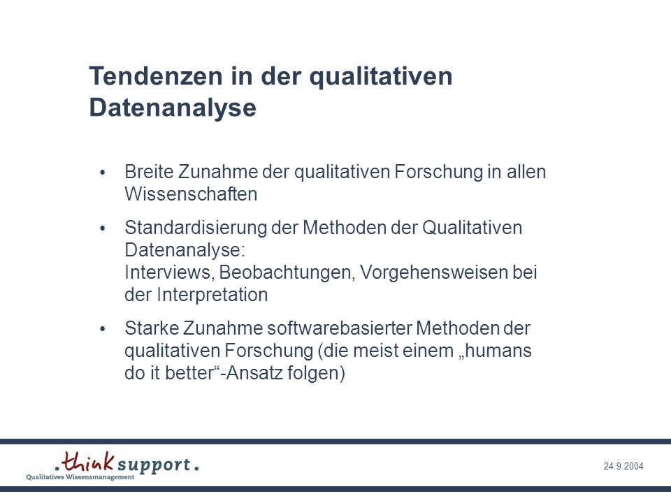 Tendenzen in der qualitativen Datenanalyse