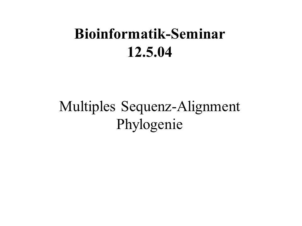 Bioinformatik-Seminar
