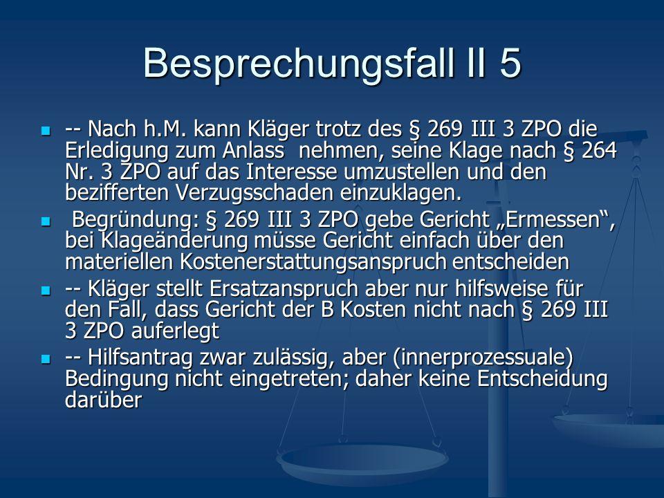 Besprechungsfall II 5