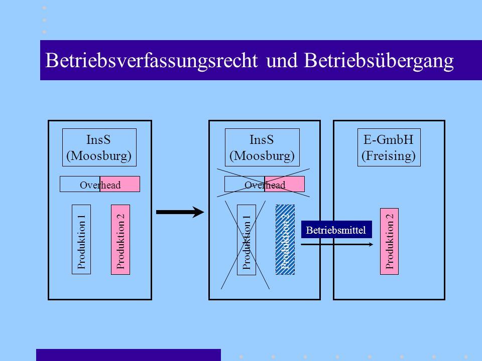 Betriebsverfassungsrecht und Betriebsübergang