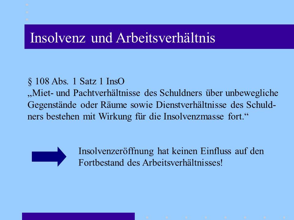 Insolvenz und Arbeitsverhältnis