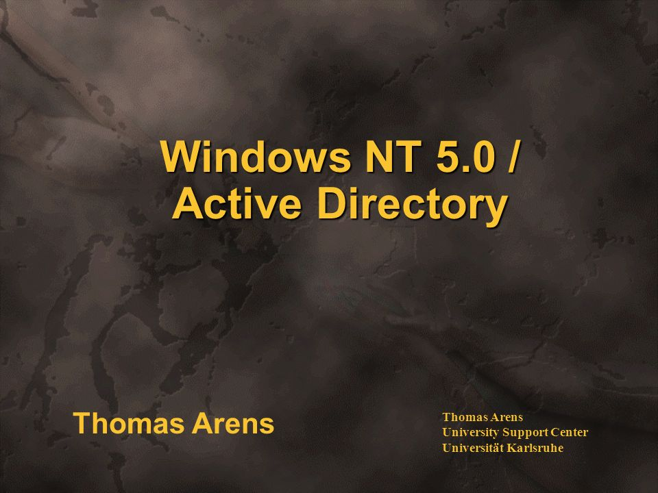 Windows NT 5.0 / Active Directory