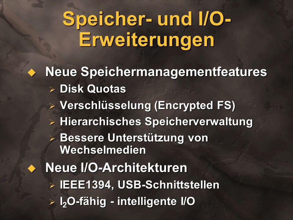 Speicher- und I/O-Erweiterungen