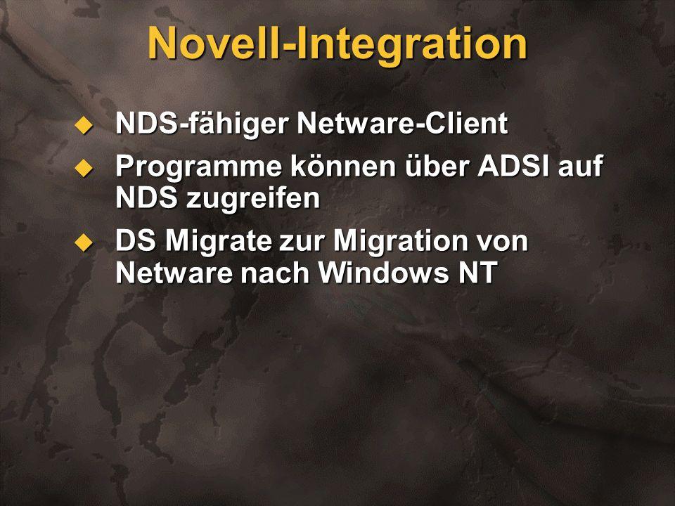 Novell-Integration NDS-fähiger Netware-Client