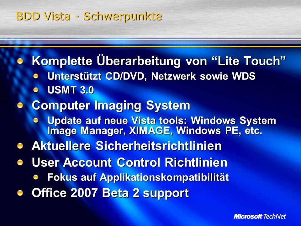 BDD Vista - Schwerpunkte
