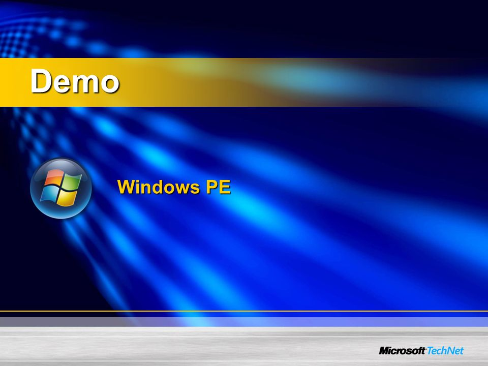 Demo Windows PE