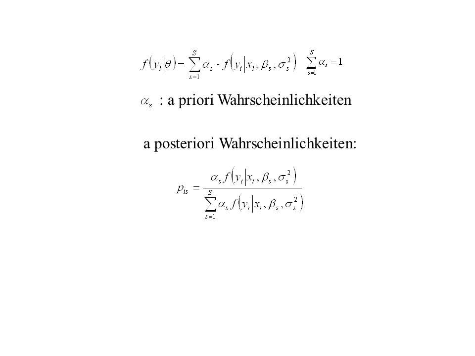 : a priori Wahrscheinlichkeiten