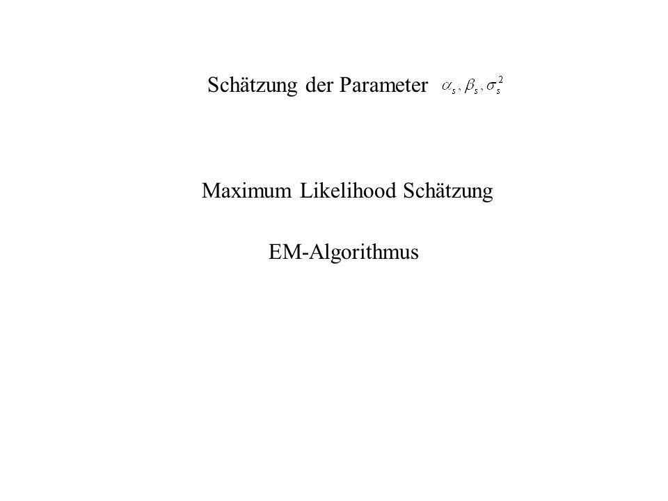 Schätzung der Parameter