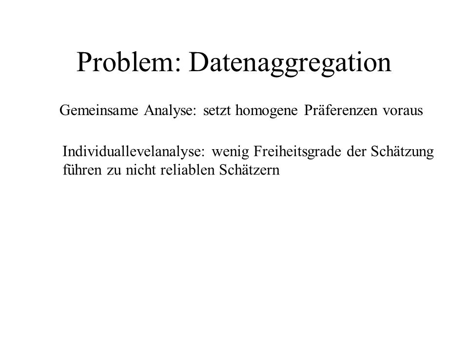 Problem: Datenaggregation
