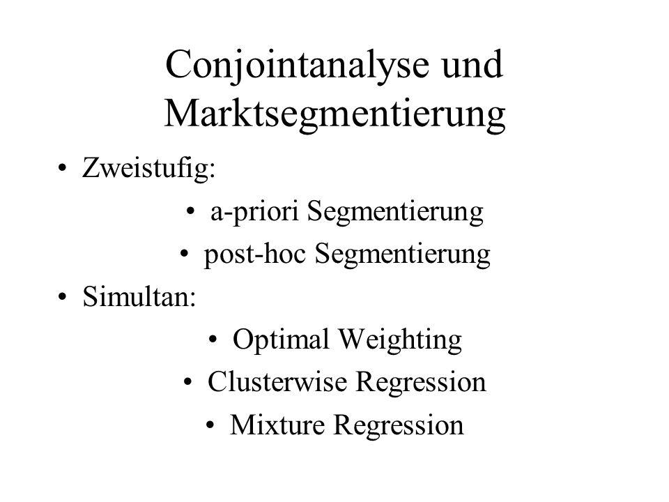 Conjointanalyse und Marktsegmentierung