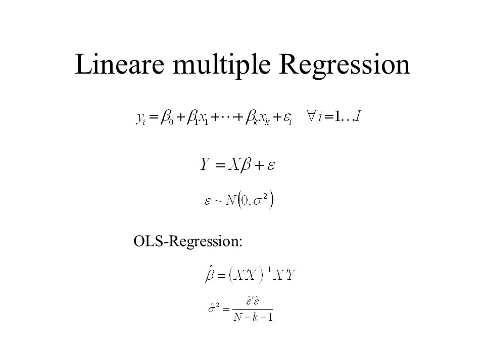 Lineare multiple Regression