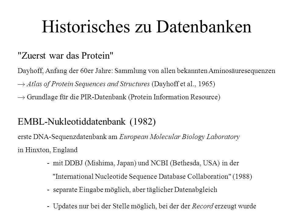 Historisches zu Datenbanken