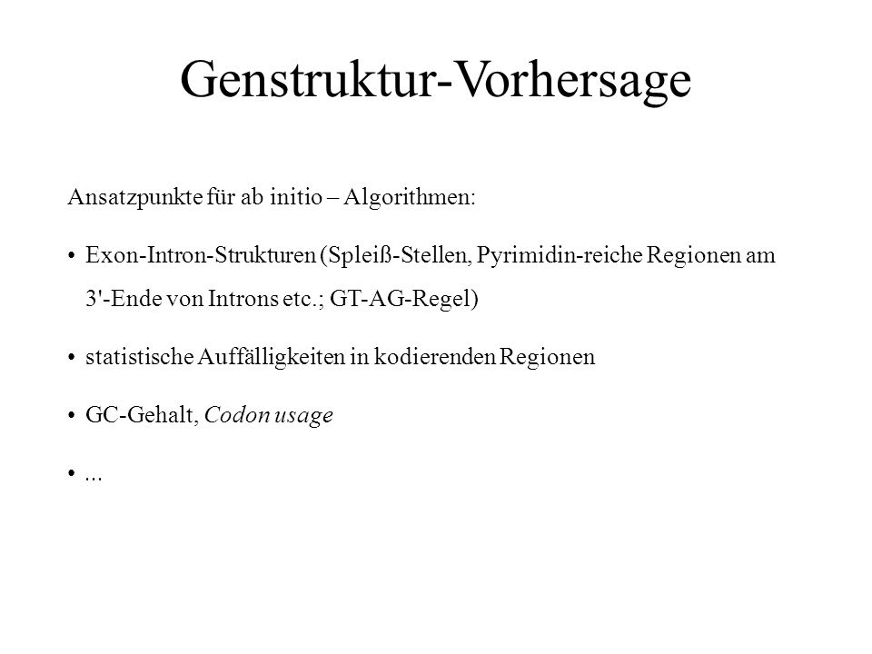 Genstruktur-Vorhersage