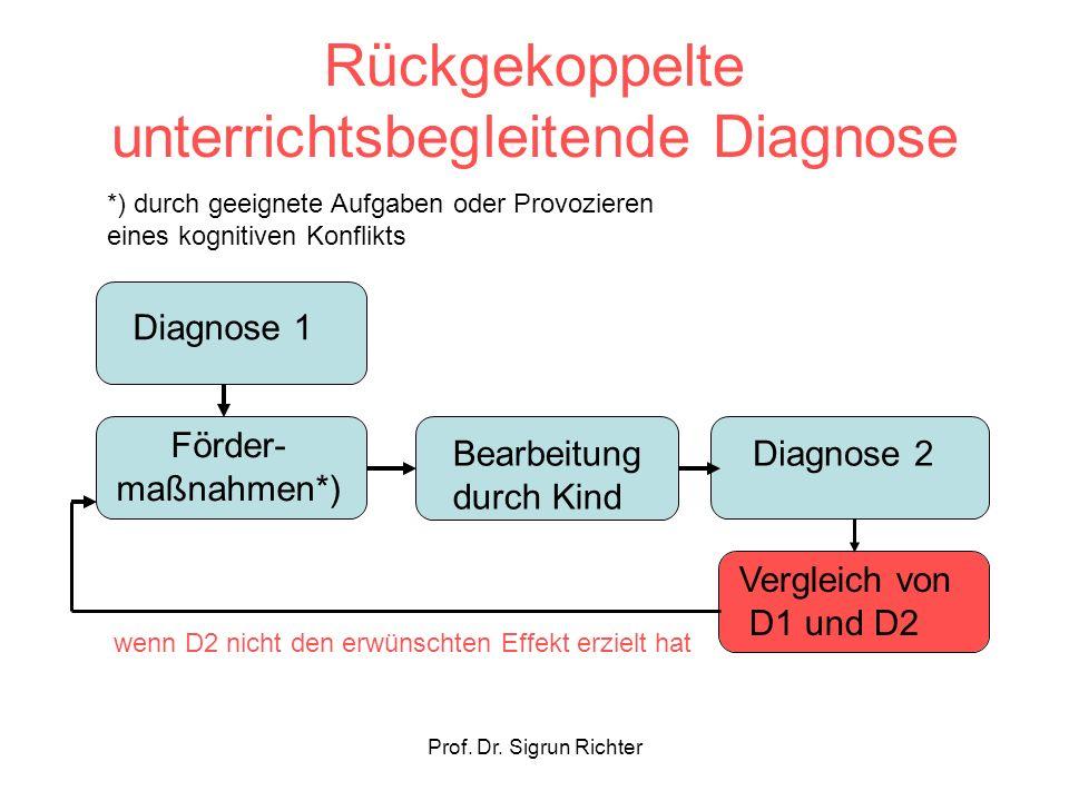Rückgekoppelte unterrichtsbegleitende Diagnose
