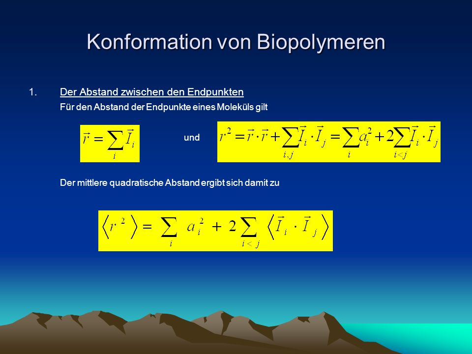 Konformation von Biopolymeren