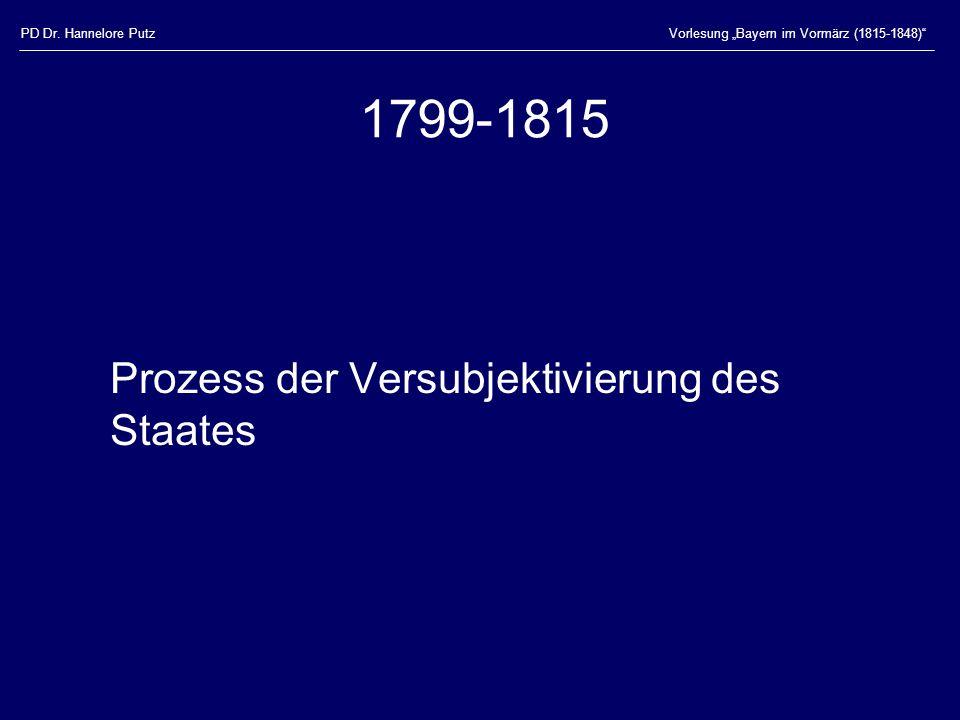 1799-1815 Prozess der Versubjektivierung des Staates