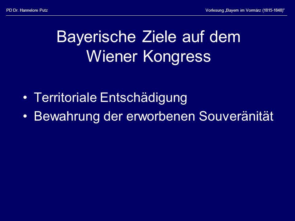 Bayerische Ziele auf dem Wiener Kongress