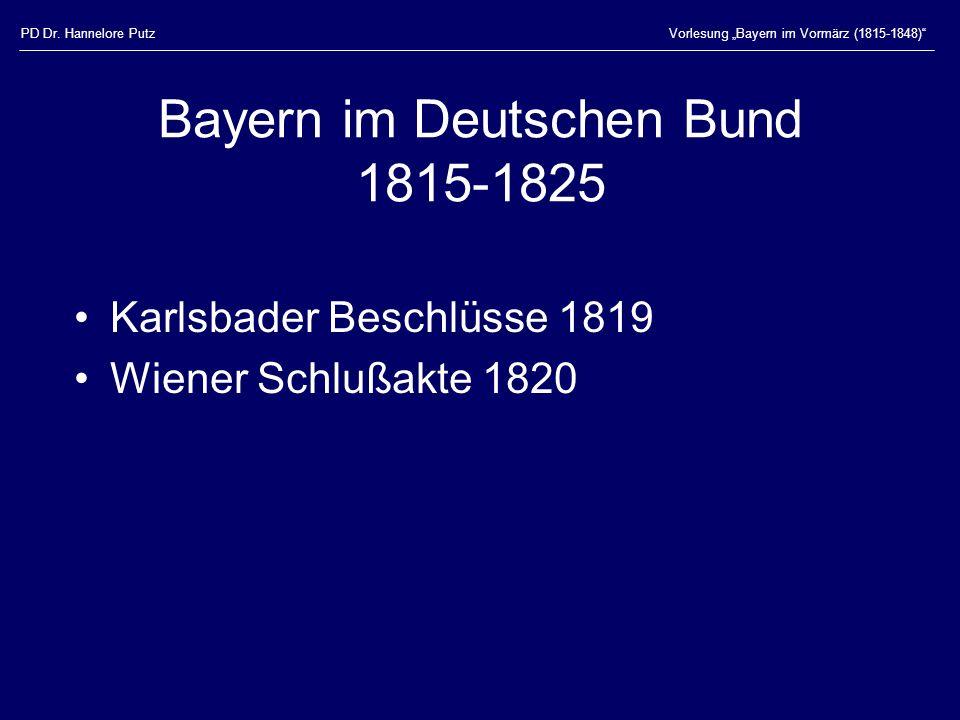 Bayern im Deutschen Bund 1815-1825