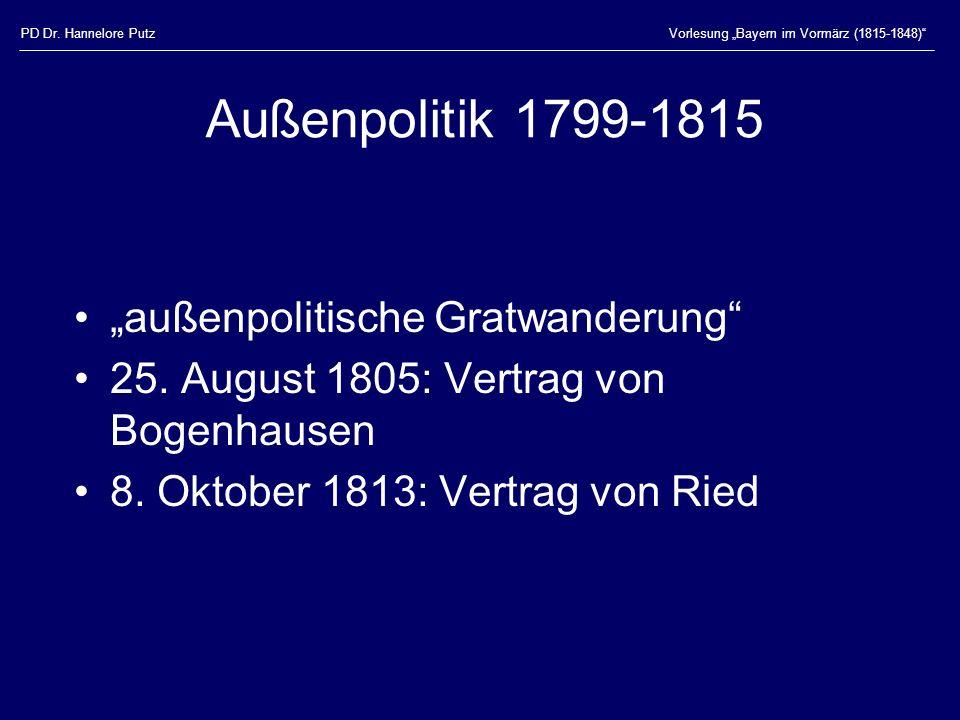 """Außenpolitik 1799-1815 """"außenpolitische Gratwanderung"""