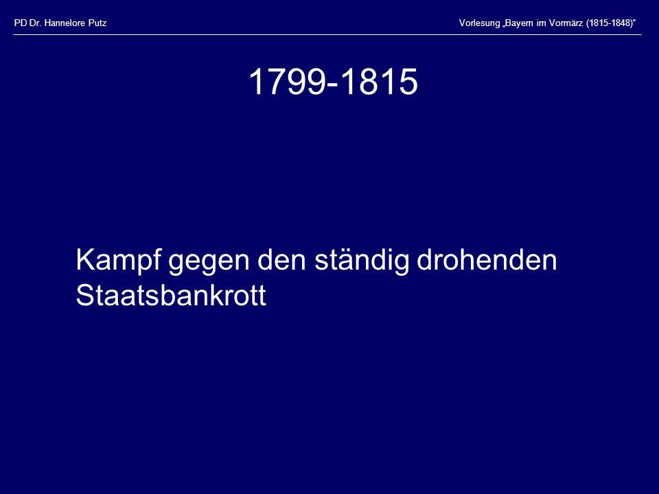 1799-1815 Kampf gegen den ständig drohenden Staatsbankrott