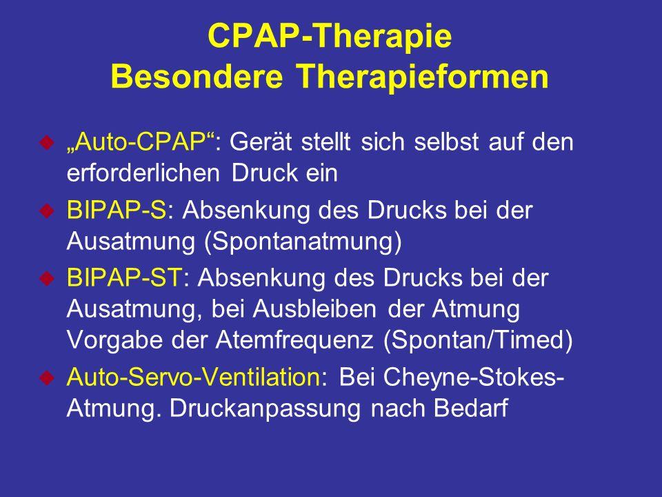 CPAP-Therapie Besondere Therapieformen