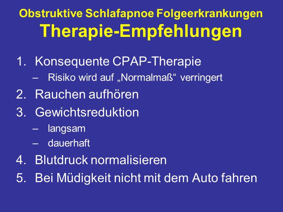 Obstruktive Schlafapnoe Folgeerkrankungen Therapie-Empfehlungen