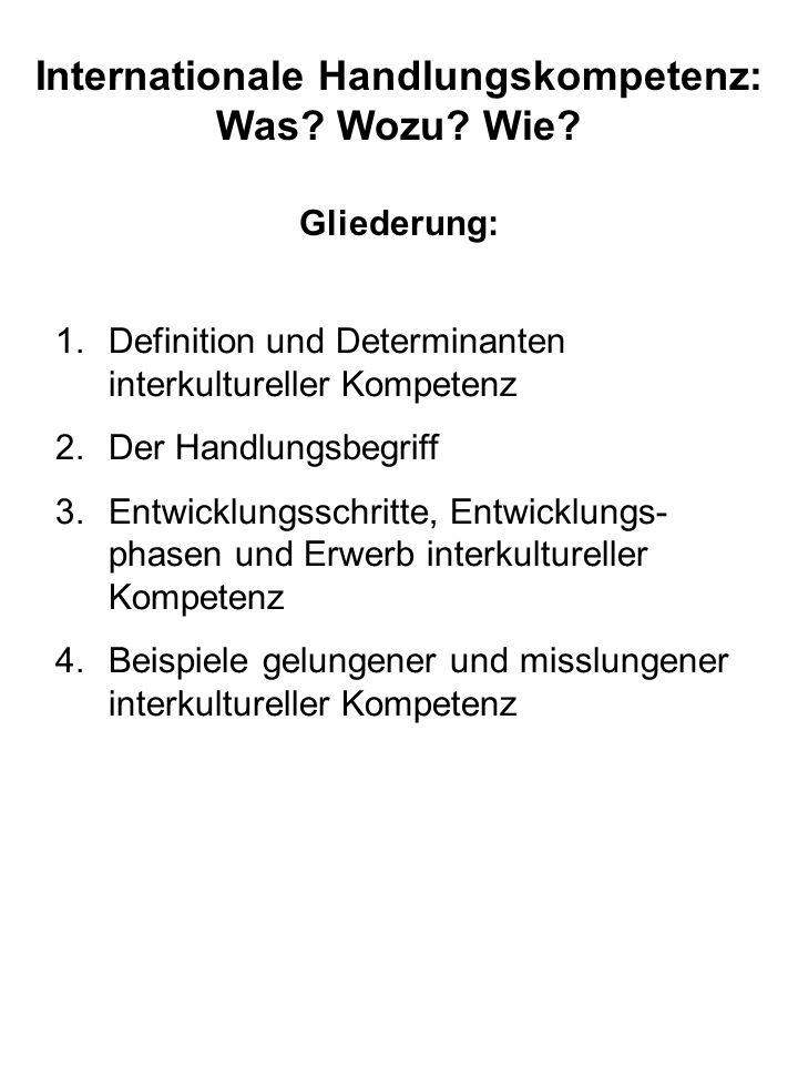 Internationale Handlungskompetenz: