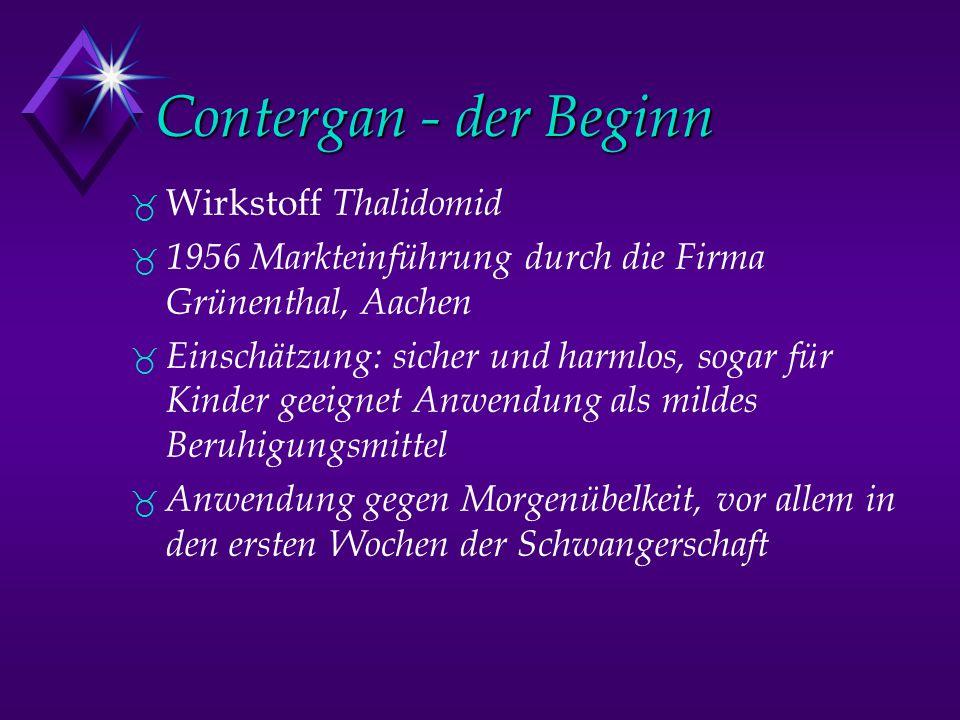 Contergan - der Beginn Wirkstoff Thalidomid