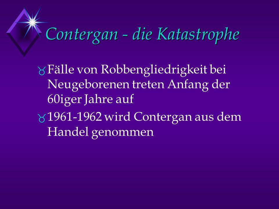 Contergan - die Katastrophe