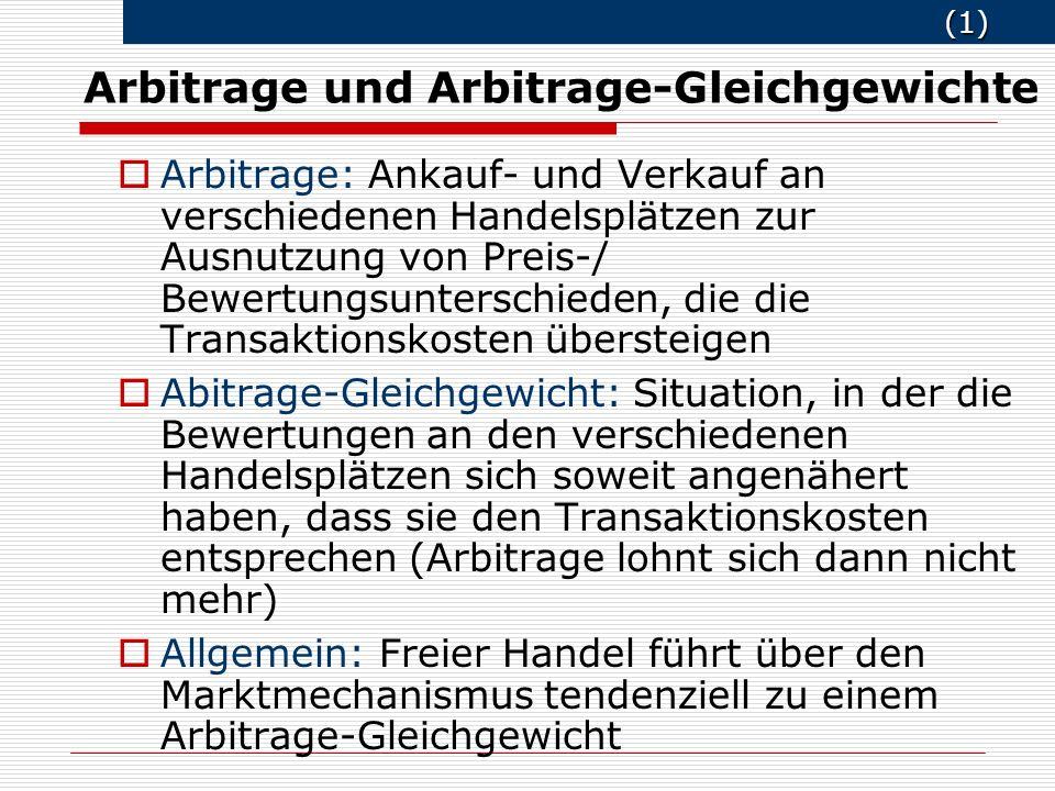 Arbitrage und Arbitrage-Gleichgewichte