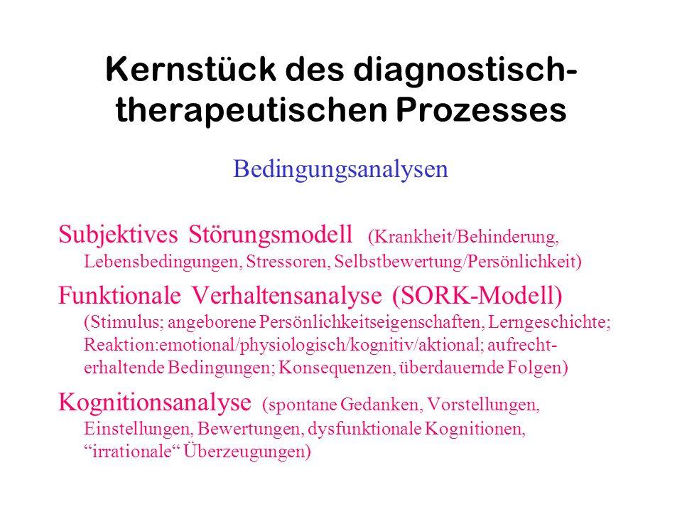 Kernstück des diagnostisch-therapeutischen Prozesses