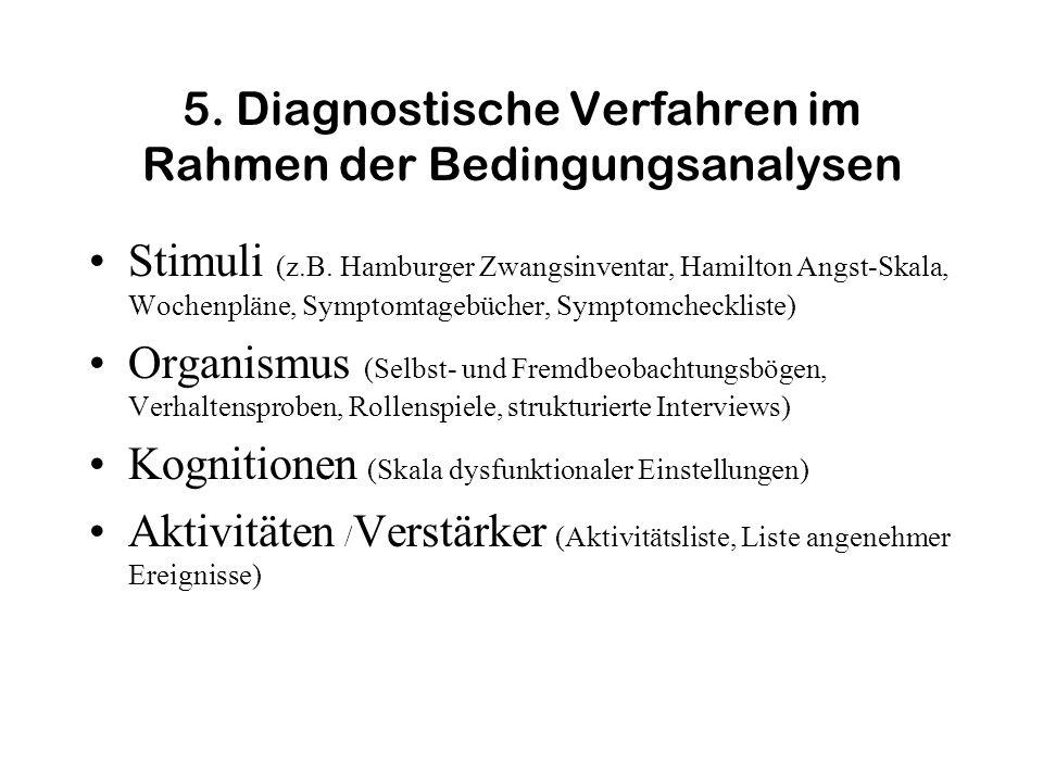 5. Diagnostische Verfahren im Rahmen der Bedingungsanalysen