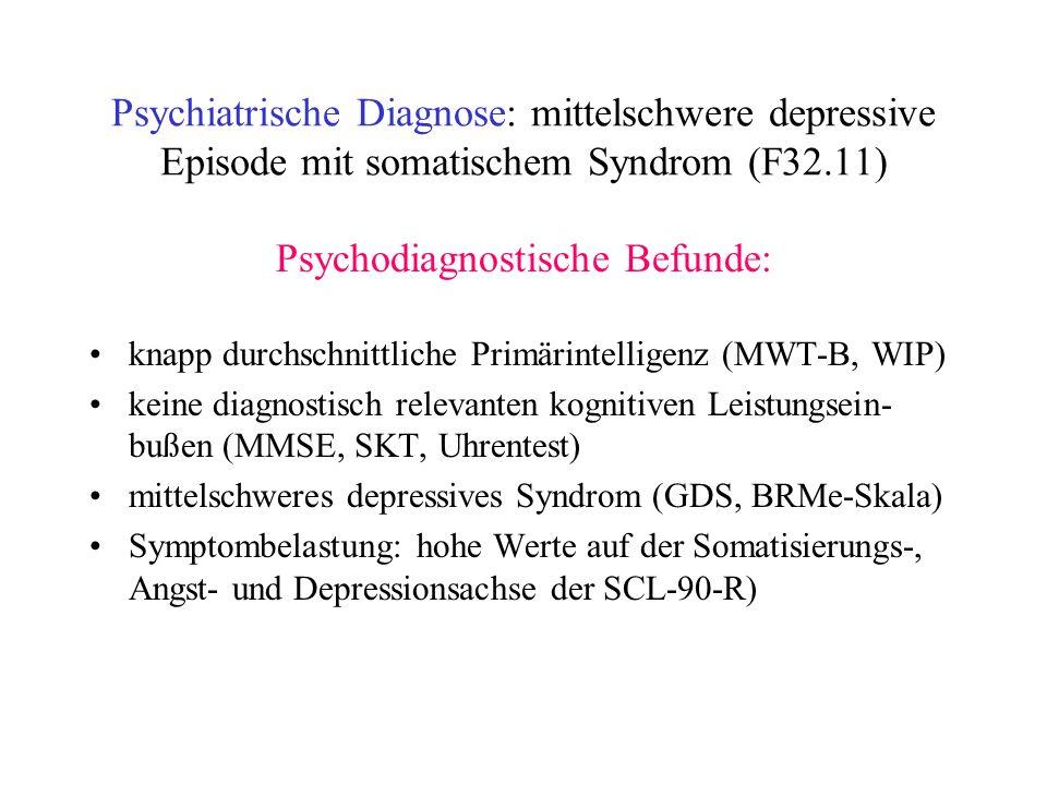 Psychodiagnostische Befunde: