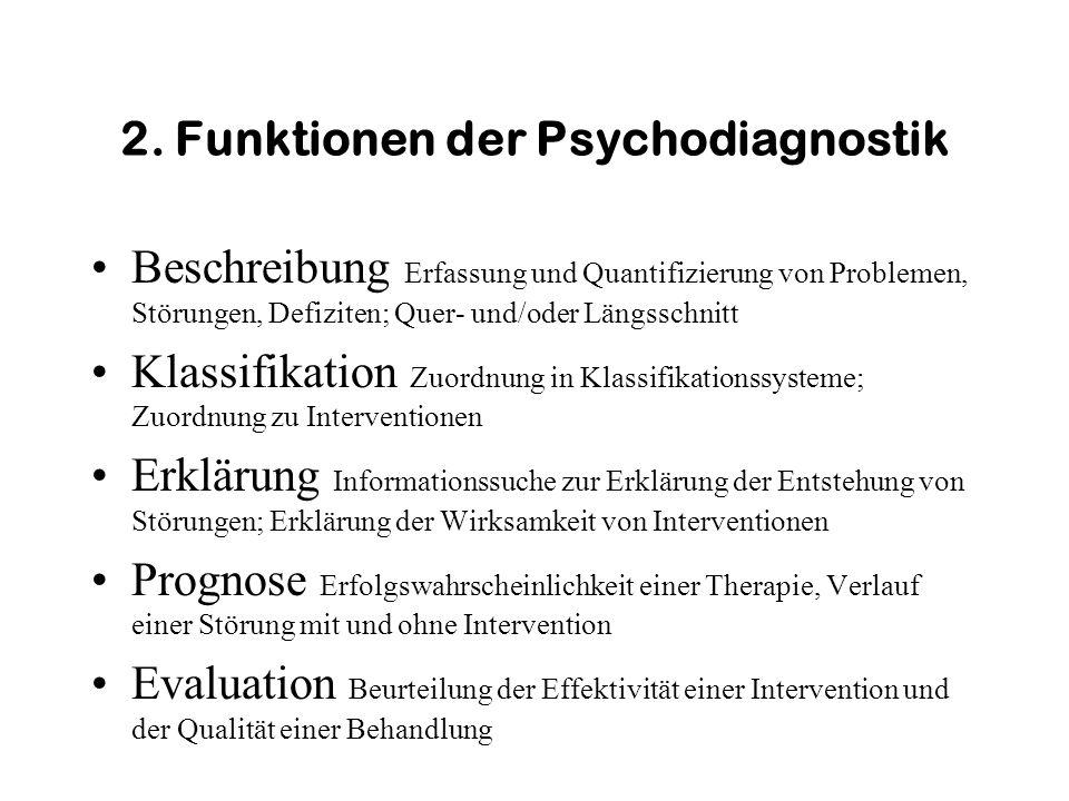 2. Funktionen der Psychodiagnostik