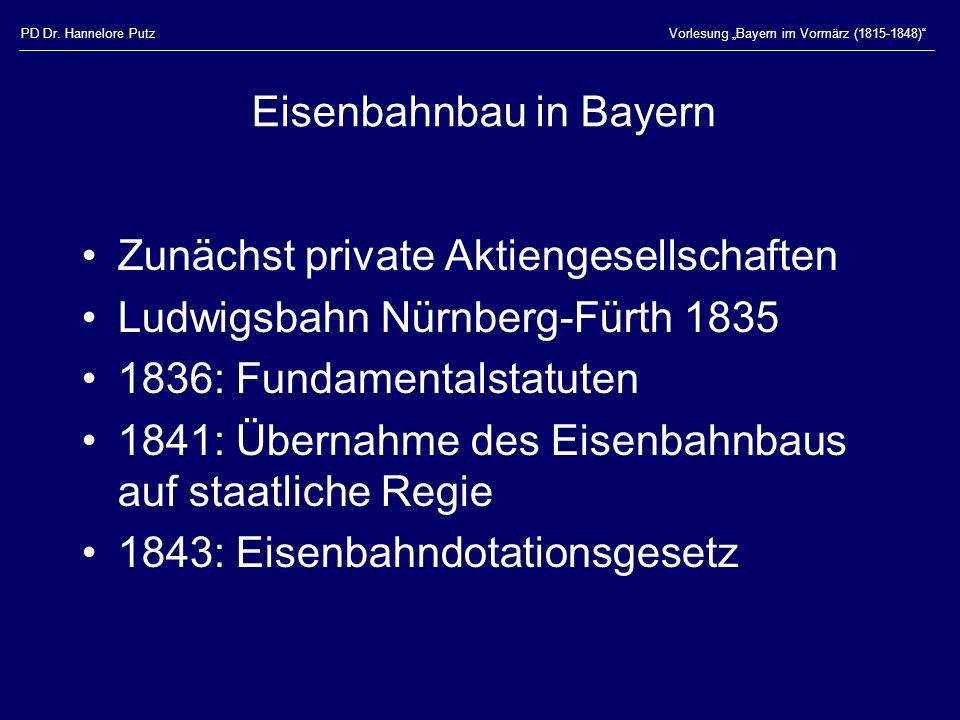 Eisenbahnbau in Bayern