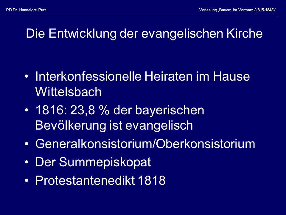 Die Entwicklung der evangelischen Kirche
