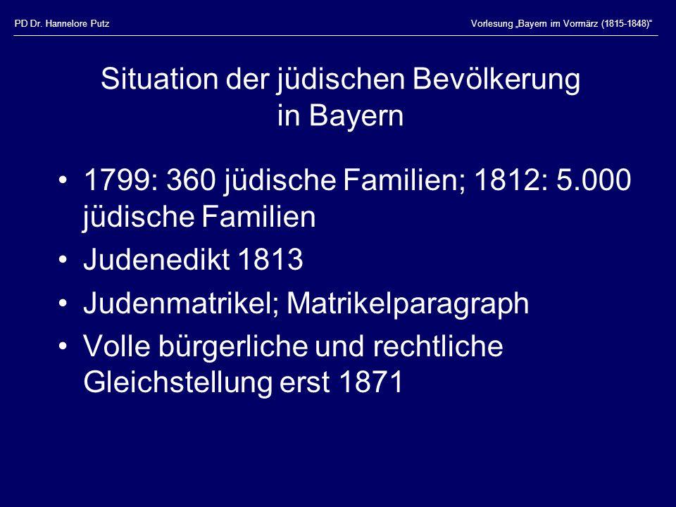 Situation der jüdischen Bevölkerung in Bayern