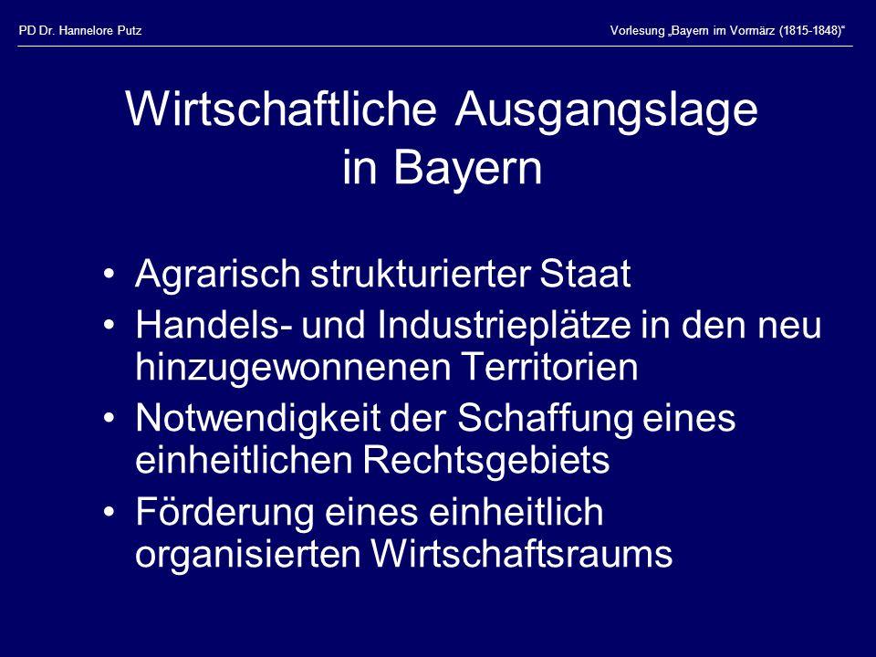 Wirtschaftliche Ausgangslage in Bayern